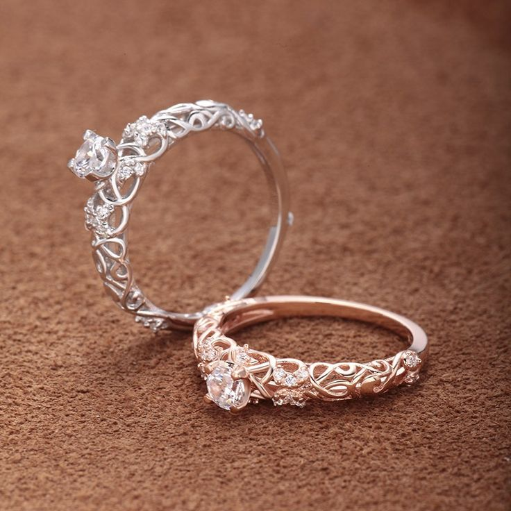 Whimsical engagement ring, for the Fairytale bride
