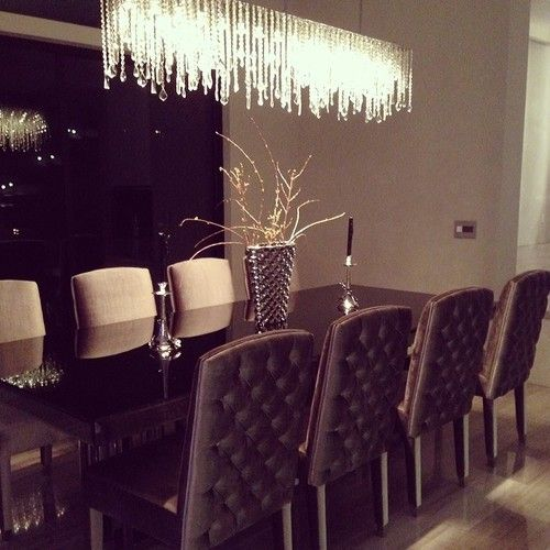 how to create fine interiors with dining room tables - Contemporary Dining Room Chandeliers