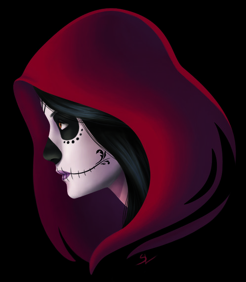 A La Catrina from the mexican festival Day of the Dead. Painted in PhotoShop CS3.