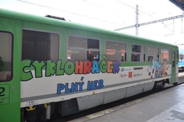 Vláček Cyklohráček - vlak, kde si děti hrají