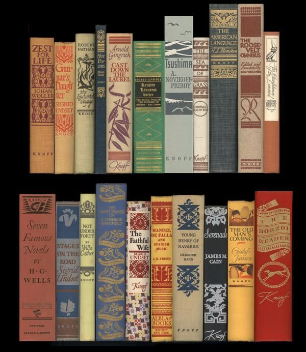 Some of WAD's spines for Knopf, 1934–37. Every spine handlettered, no type!  #bookspines   via @WADwiggins