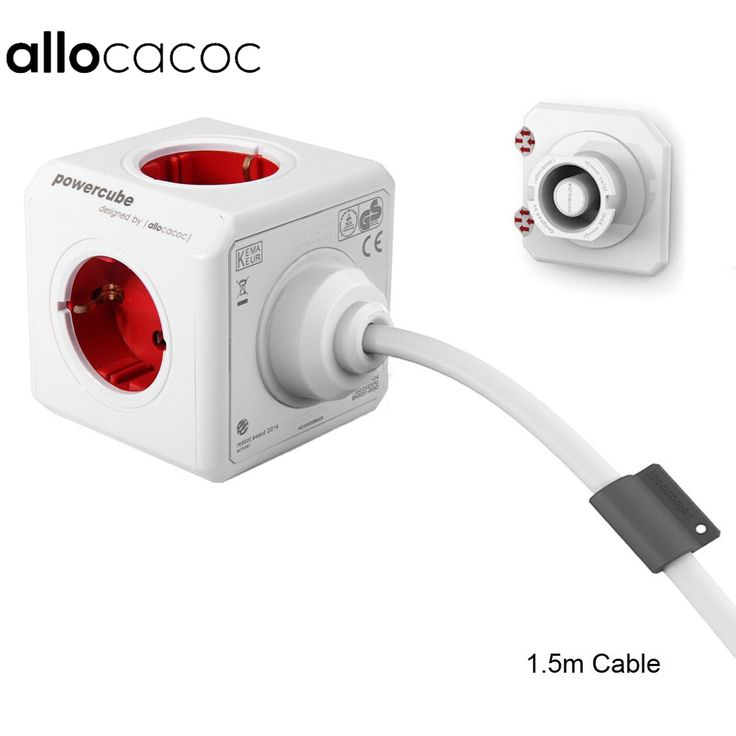 18.89$  Watch now - Allocacoc Extended PowerCube Socket EU DE Plug 5 Outlets Adapter with 1.5m / 3m Cable Extension Adapter Multi Switched Socket   #aliexpresschina