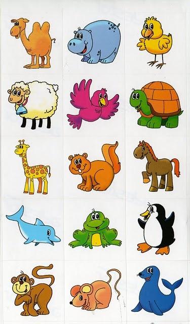 Animales para trabajar con símbolos
