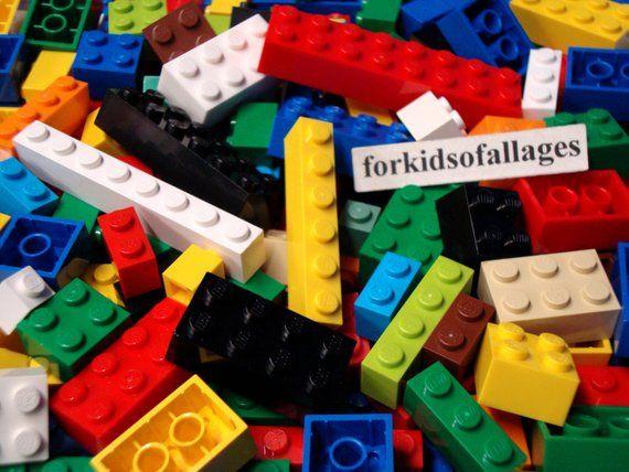 ☀️Used Lego 100 Bulk ALL BRICKS BLOCKS LOT Mixed Sizes Basic Building Pieces Mix