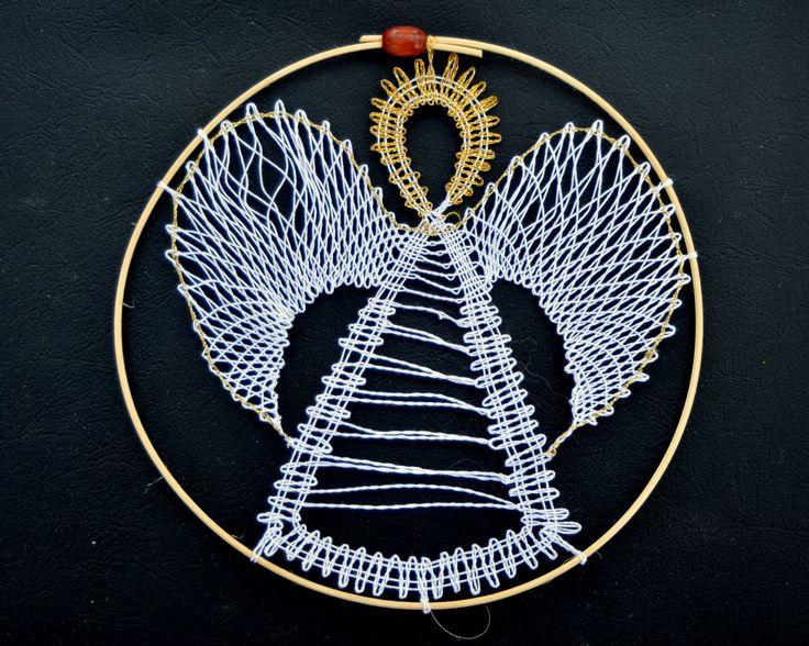 paličkovaný anděl/ bobbin lace angel