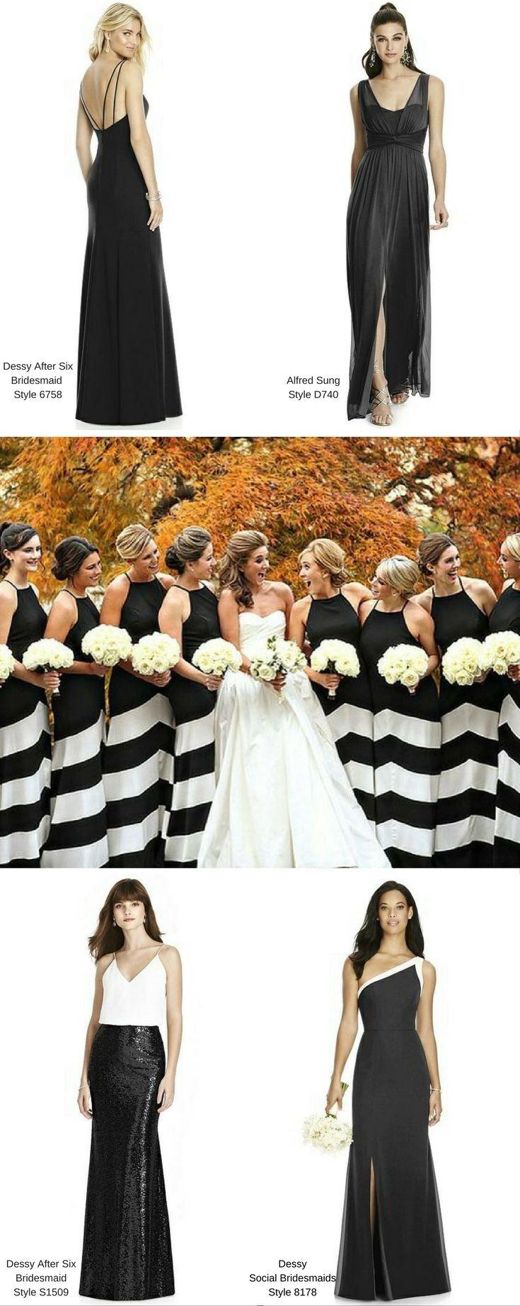 347 best BLACK BRIDESMAID DRESSES + WEDDINGS images on Pinterest ...