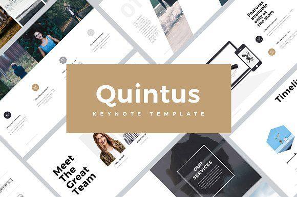 Quintus Minimal Keynote Template by SlidePro on @creativemarket