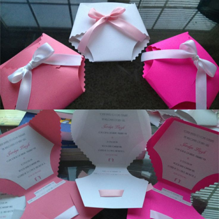 My homemade baby shower Invitations. Cute and fun to make. You can print the templates from here http://wilkerdos.blogspot.com/2013/04/diy-diaper-baby-shower-invites.html?m=1