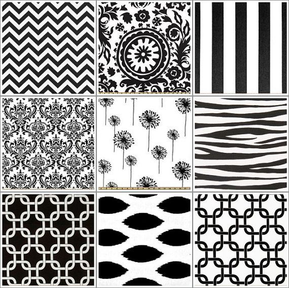 Pick Your Own Decorative Black Pillow Covers Black and White - 18 x 18 inches Throw Pillow Cushion Cover Accent Pillow