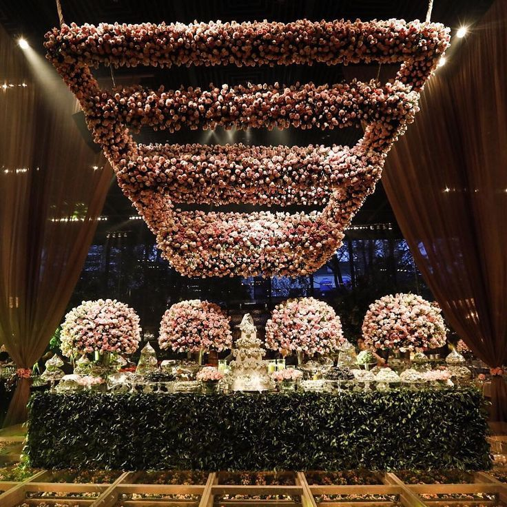 """945 Likes, 10 Comments - WedLuxe Media (@wedluxe) on Instagram: """"Talk about a heart-stopping spectacle! We're in awe of this installation by @laisaguiarmaluhy…"""""""