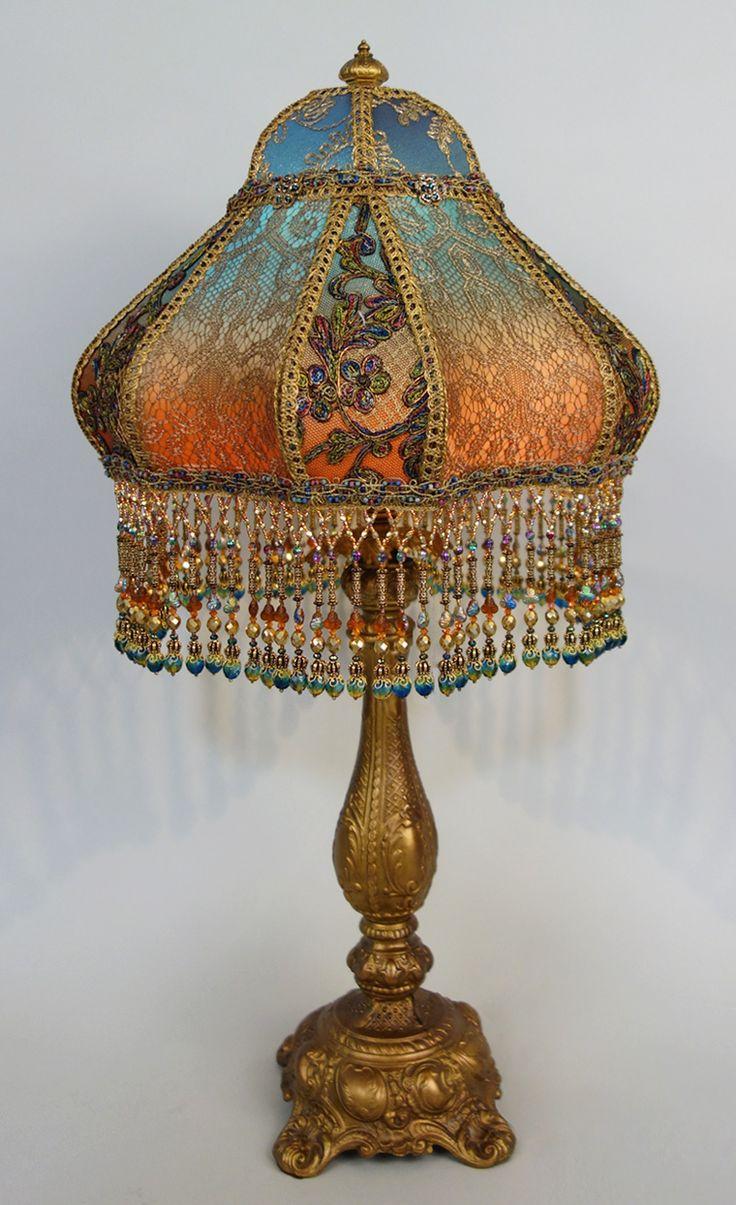 Bohemian Style Antique Beaded Lamp BOHO DECOR Pinterest