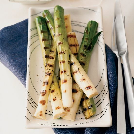 Grilled Baby Leeks with Romesco Sauce Recipe - Tony Mantuano | Food & Wine