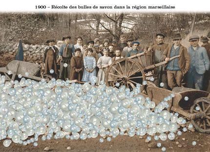 1900 récolte de bulles de savon dans la région marseillaise / PLonk et Replonk