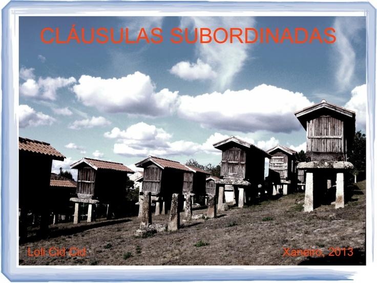 clusulas-subordinadas by Loli Cid Cid via Slideshare