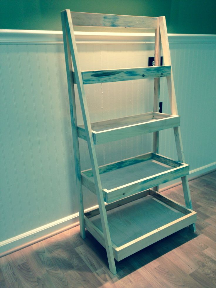 Painters ladder themed shelving. $75