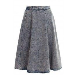 Billie Acid Wash Denim Midi Skater Skirt WOMENS LADIES SKIRT BUY IT NOW £20.00 AT www.fuchia.co.uk