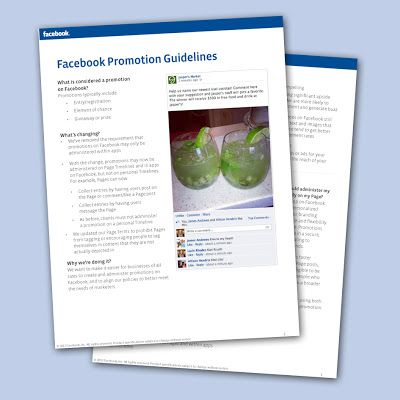New Facebook Promotion Guidelines: Apps no longer required!