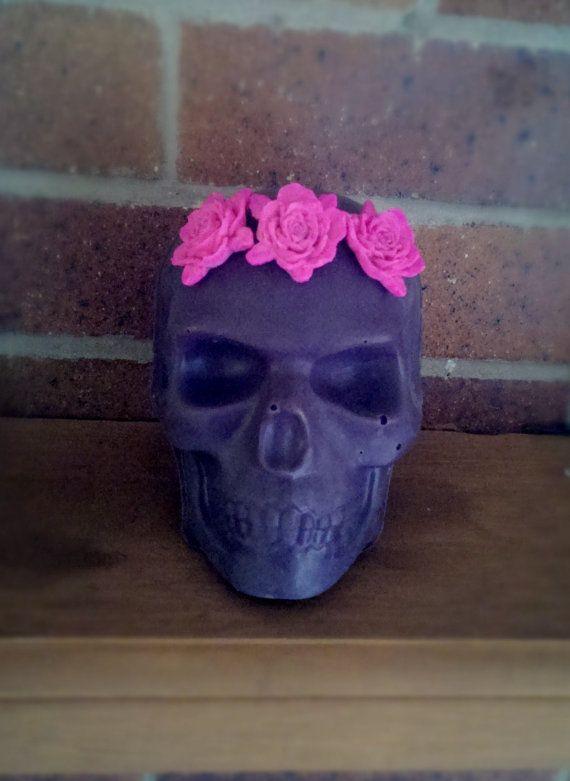 Lifesized Skull Candle by RogerandMolly on Etsy, $35.00