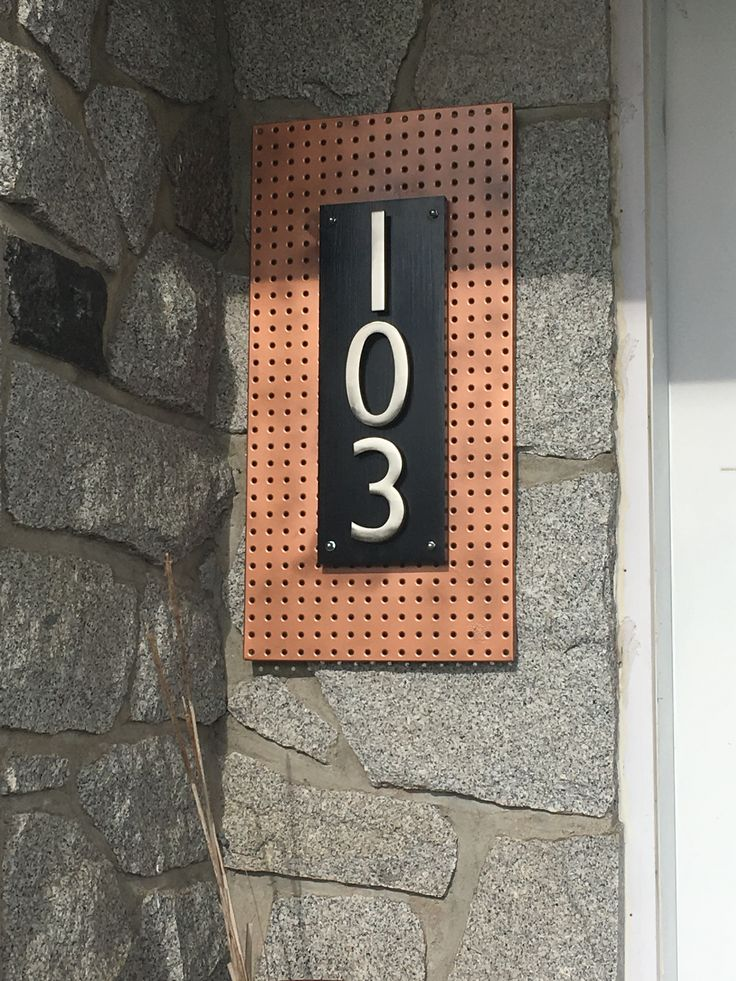 My new DIY house number.