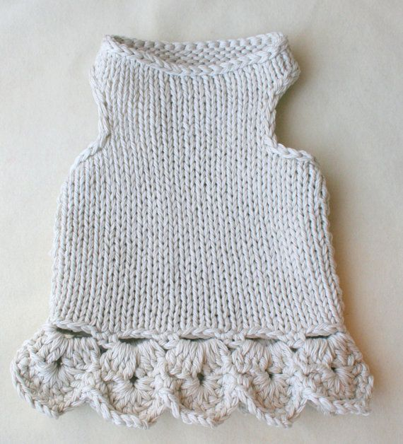 Knitted dog dress. Small Dog Clothing. Dog Top . Poodle by BubaDog