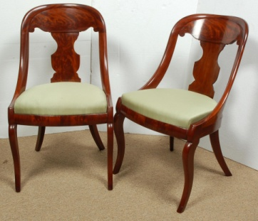 Federalist Antiques Kenilworth IL Veneered Gondola Chair From Messnger U0026 Co  Design Book Circa 1825