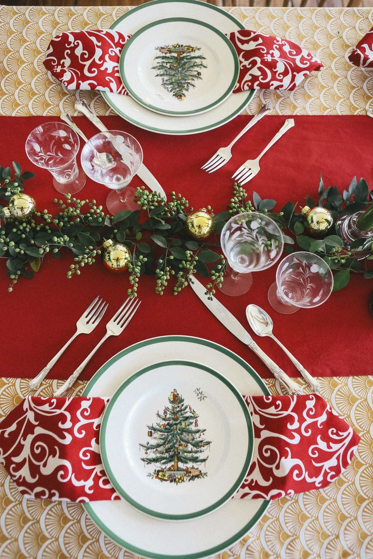 From our Creative Director, Katherine Poole  I inherited my Grandmother's Spode Christmas Tree china. Every year I try  to come up with a new way to feature it on