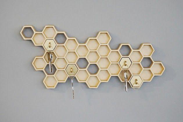 wieszak plaster miodu honey im home