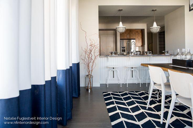 Modern & Sleek Nautical Interior Design by Canadian Interior Designer, Natalie Fuglestveit Interior Design