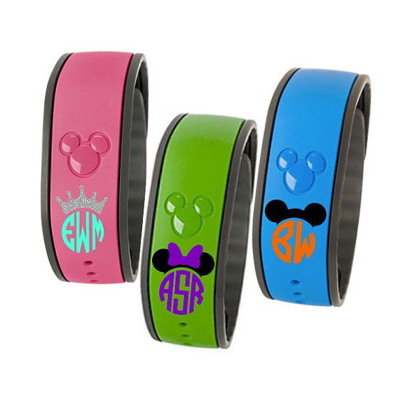 Includes (1) DECAL ONLY to make your own Magic Band super sassy and special!!  At checkout please provide: - Monogram in order to be printed - first, LAST, middle: - Confirm CENTER initial: - Colors: - Style (Minnie, Mickey, Crown): - Need By Date: - Best method of contact (we prefer Etsy convo or text):  If you need your order to be processed faster than the standard 3-5 business day time frame, you can purchase RUSH PROCESSING from the following listing: https://www.etsy.com/...