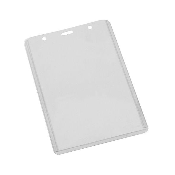 COD.LI020  Porta-Credencial Grande de Vinil Transparente, para Credenciales de 9.2 x 13.2 cm. Visibilidad por ambos lados. Presentación Vertical.