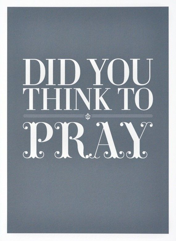 Pray for anything and everything!