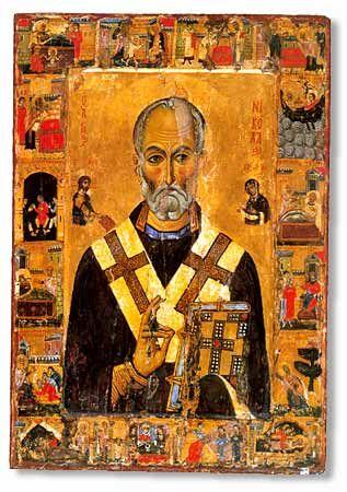 St Nicholas icon, Mount Sinai, Monastery of St. Catherine.