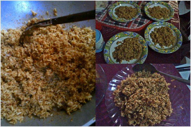 nasi goreng padang ala-ala rendang sisa lebaran