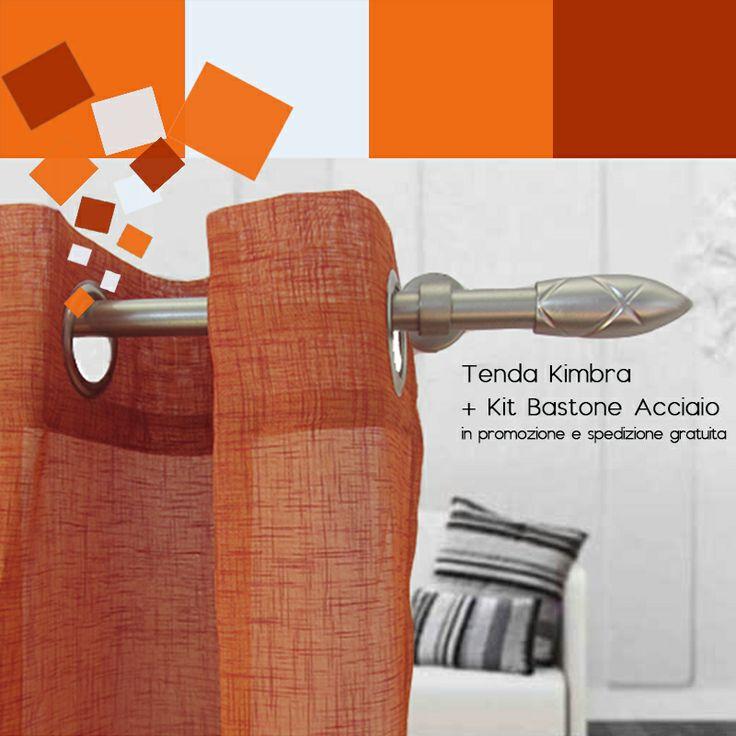 Rinnovare casa con le tende. Prodotto della settimana. Prezzo #speciale, Bundle composto da #Tenda Kimbra + Kit Bastone Acciaio, per tutta la settimana. Approfittane adesso le spedizioni sono #gratuite. http://ow.ly/w1he8