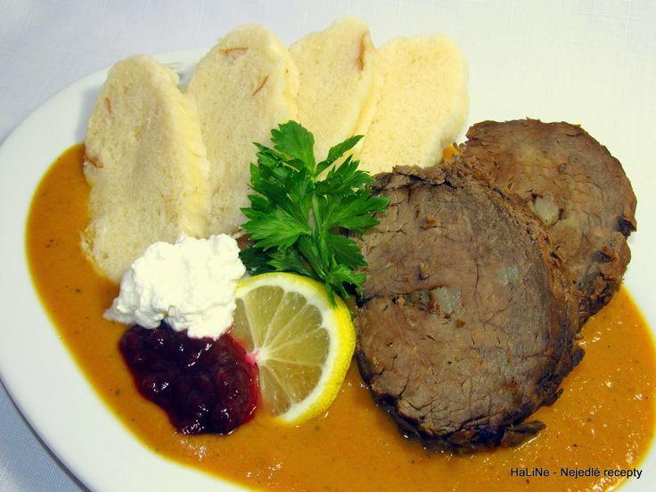 Nejedlé recepty: Svíčková hovězí pečeně