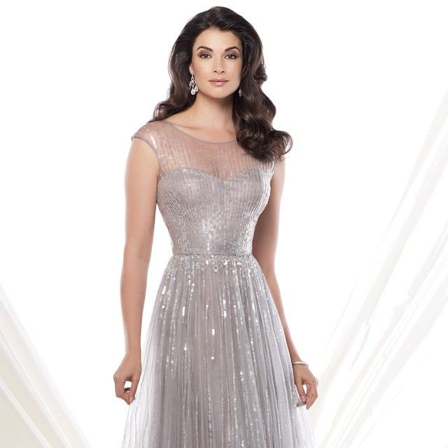Bridesmaid dress idea <3 || This incredible sequined #tulle a-line gown just arrived in our special occasions boutique! #glam #designer #showstopper #StarDustCelebrations #motherofthebride #weddingwednesday #formalgown #sparkle #dfwweddings #dallasbrides #dallas #dallaswedding