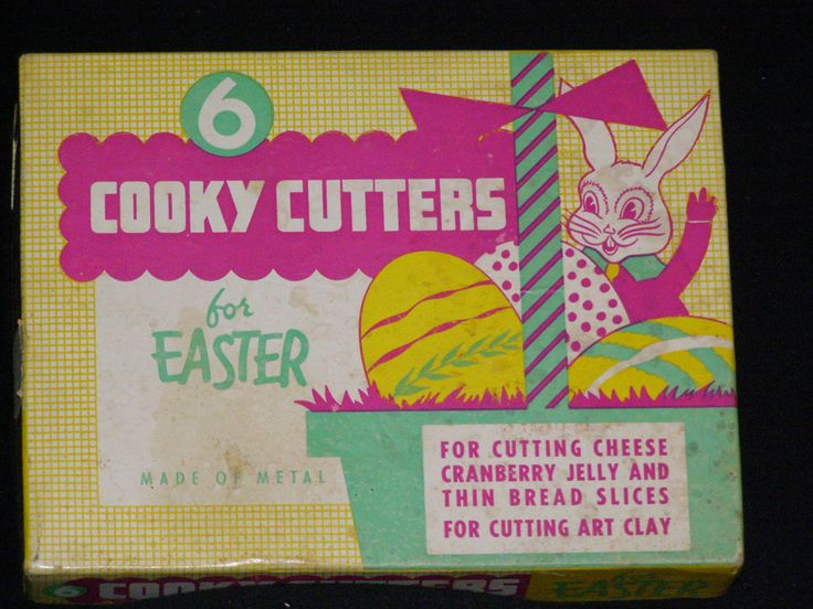 Mid Century Easter Unused Cookie Cutters Made of Metal Cutting Cheese, Cranberry Jelly and Thin Bread  Slices or Art Clay by parkie2 on Etsy