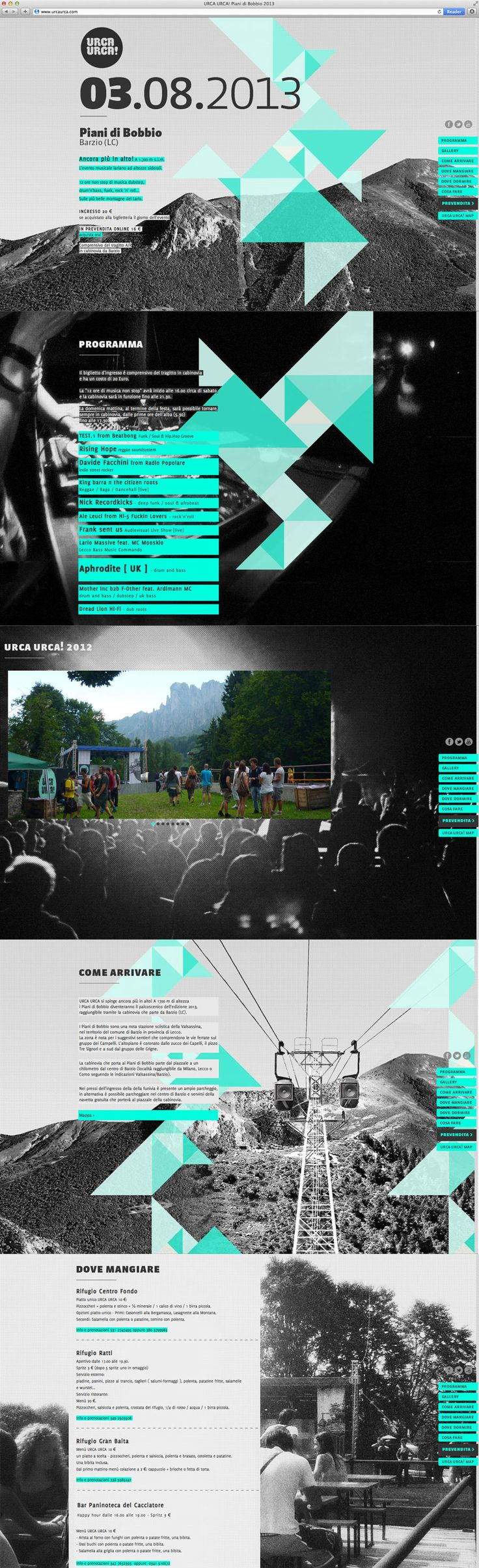Music festival website URCA URCA 2013