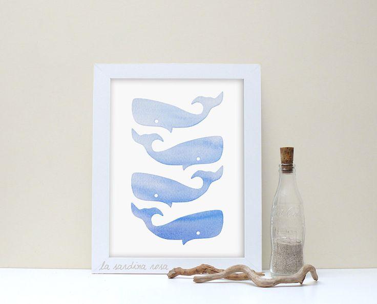 Balene blu Stampa camera bambini Quadro cameretta neonato Decorazione digitale poster mare di LaSardinaRosa su Etsy https://www.etsy.com/it/listing/267391185/balene-blu-stampa-camera-bambini-quadro