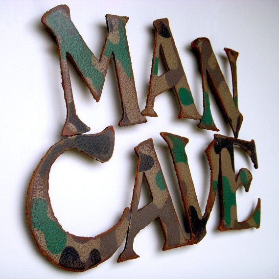 Man cave wall art metal painted camouflage by FunctionalSculpture, $75.00: Man Cave, Men Cav
