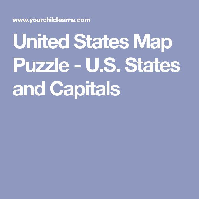 Best United States Map Ideas On Pinterest United States Map - Us states map puzzle