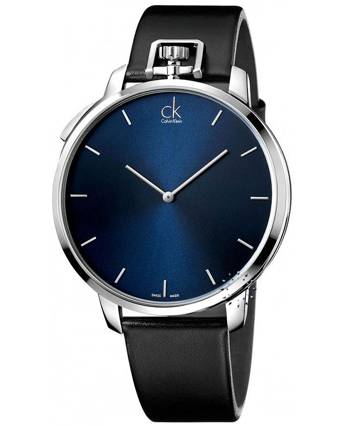 Calvin KLEIN Hand and Pocket Watch Black Leather Strap Τιμή: 298€ http://www.oroloi.gr/product_info.php?products_id=36879