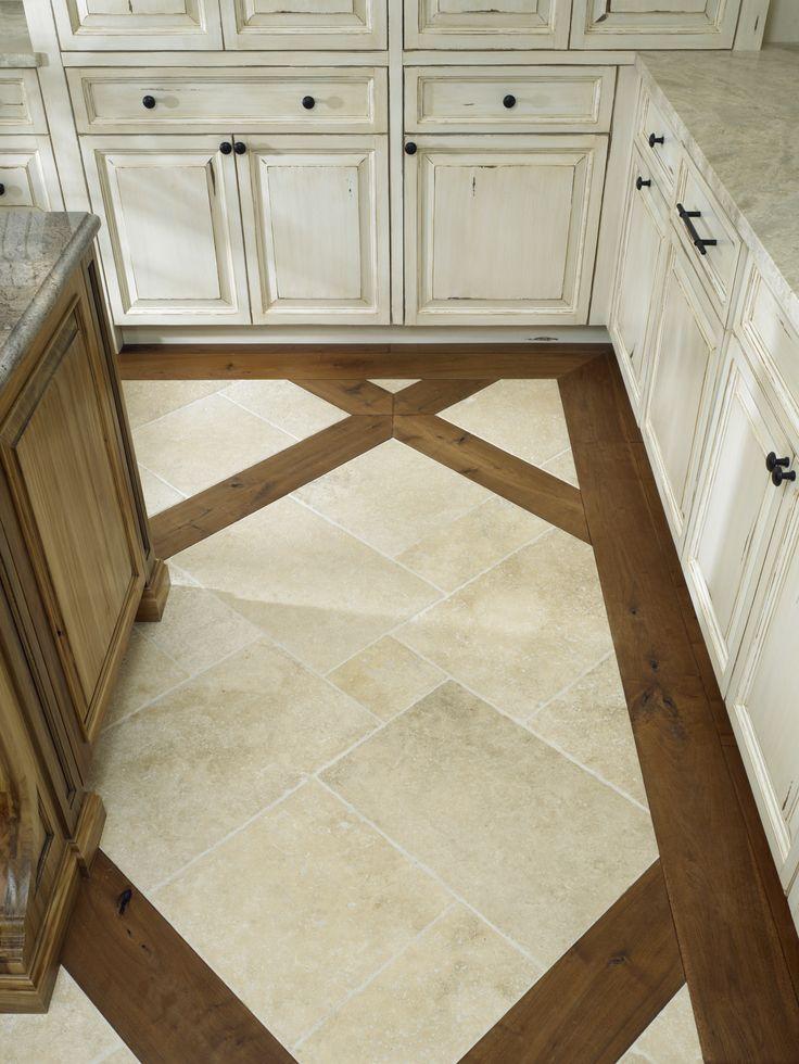 Porcelain Floor Inlays : Ceramic floor wood inlay benvenutiandstein