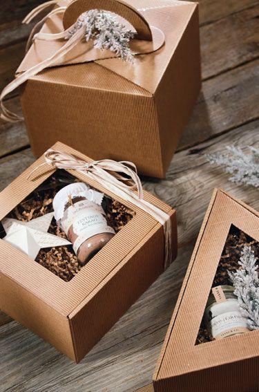 Geschenkboxen aus Offener Welle für kleine Aufmerksamkeiten