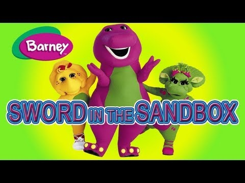 Barney Sword In The Sandbox Kids Video Channel
