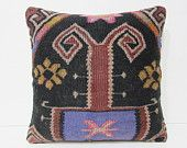 black decorative pillow 18x18 red throw pillow embroidery kilim pillow knit pillow cover moroccan cushion antique pillow case bohemian 27056