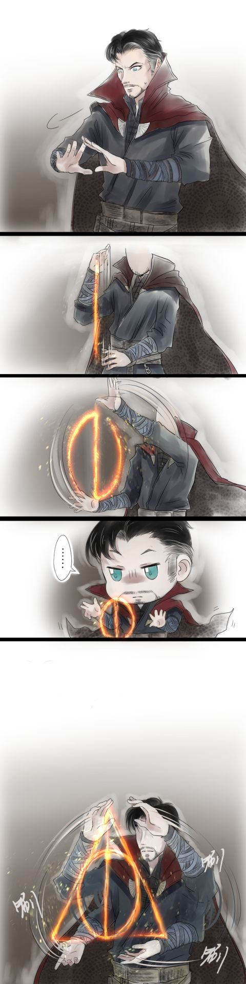 Doctor Strange is a total potterhead
