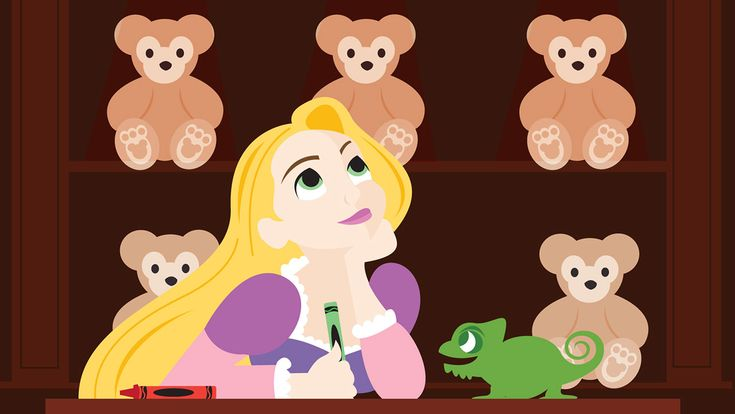 Our Disney Doodle art series answers the question: What would a Disney character do if her or she would be able to enjoy a Disney Park all on their own?