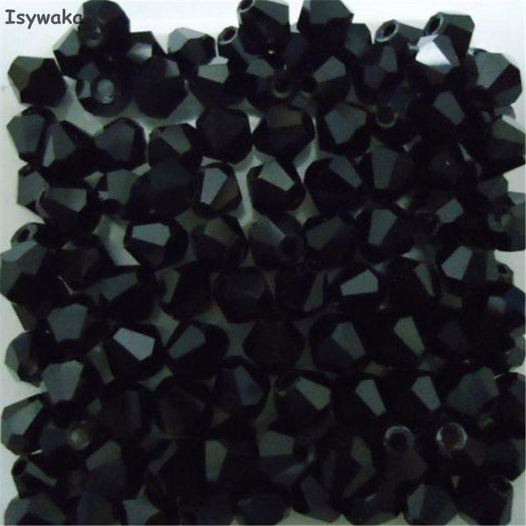 Popolare Vendita nero colori 100 pz 4mm Bicone Austria Perline Di Cristallo Perle di Vetro di fascino Allentato del Branello Del Distanziatore per FAI DA TE monili Che Fanno
