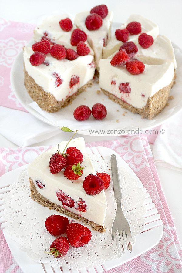 Cheesecake al mascarpone e lamponi - Mascarpone and raspberry cheesecake   From Zonzolando.com
